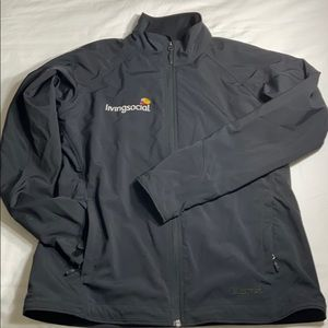 Marmot black soft shell jacket size L
